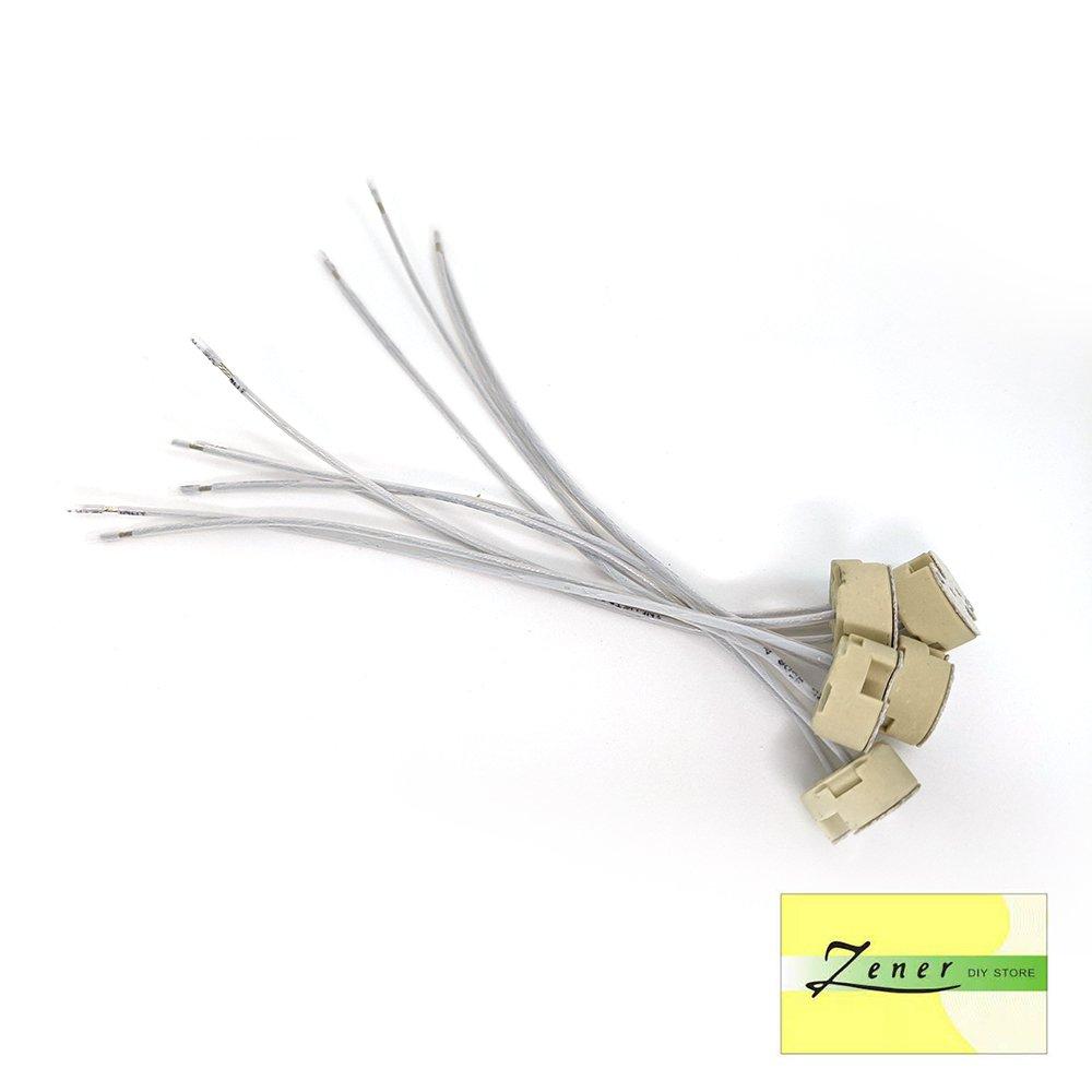 Ceramic Halogen Light Lamp Holder Wire Connector Socket