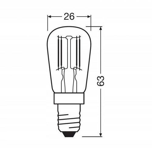 E14 2.8w Fridge Bulb