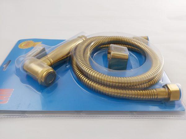 Gold bidet spray rinse set side