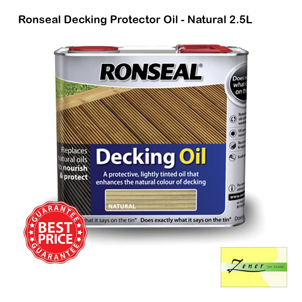 Ronseal Decking Protector Oil - Natural 2.5L