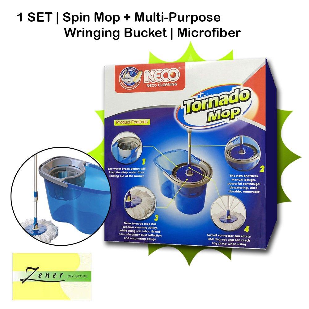 1 SET Spin Mop   Multi-purpose Wringing bucket   Microfiber