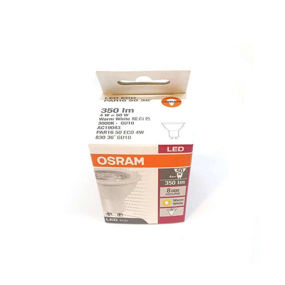 Osram LED Eco Par16 50w 240v 4W GU10 Warm White 5