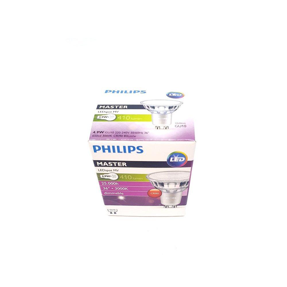 Philips Master LED GU10 Dimmable LED Warm White 240v 4.9W 2