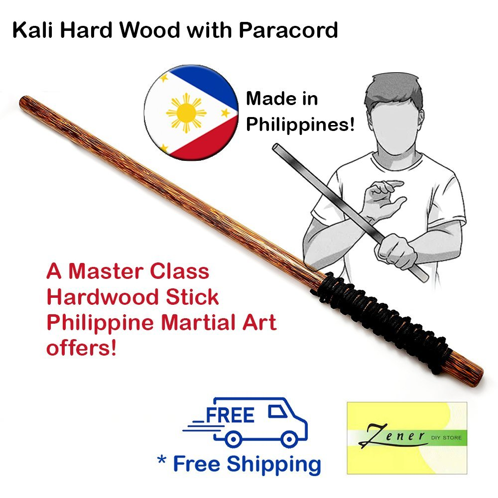 Arnis Hard Wood ( Kali Escrima ) With Paracord - Free Shipping | 1 PC