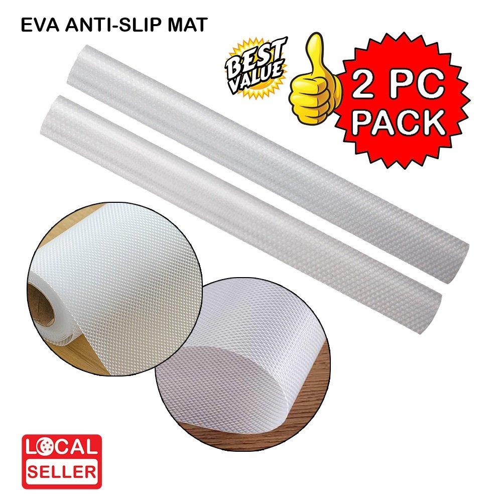 EVA Textured PVC Anti-Slip Mat Diamond texture | Transparent | 45x150cm | 2 PC PACK
