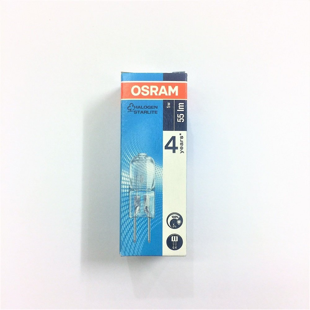 Osram Halogen 12v 5W G4 / Warm White x 3 pieces Pack
