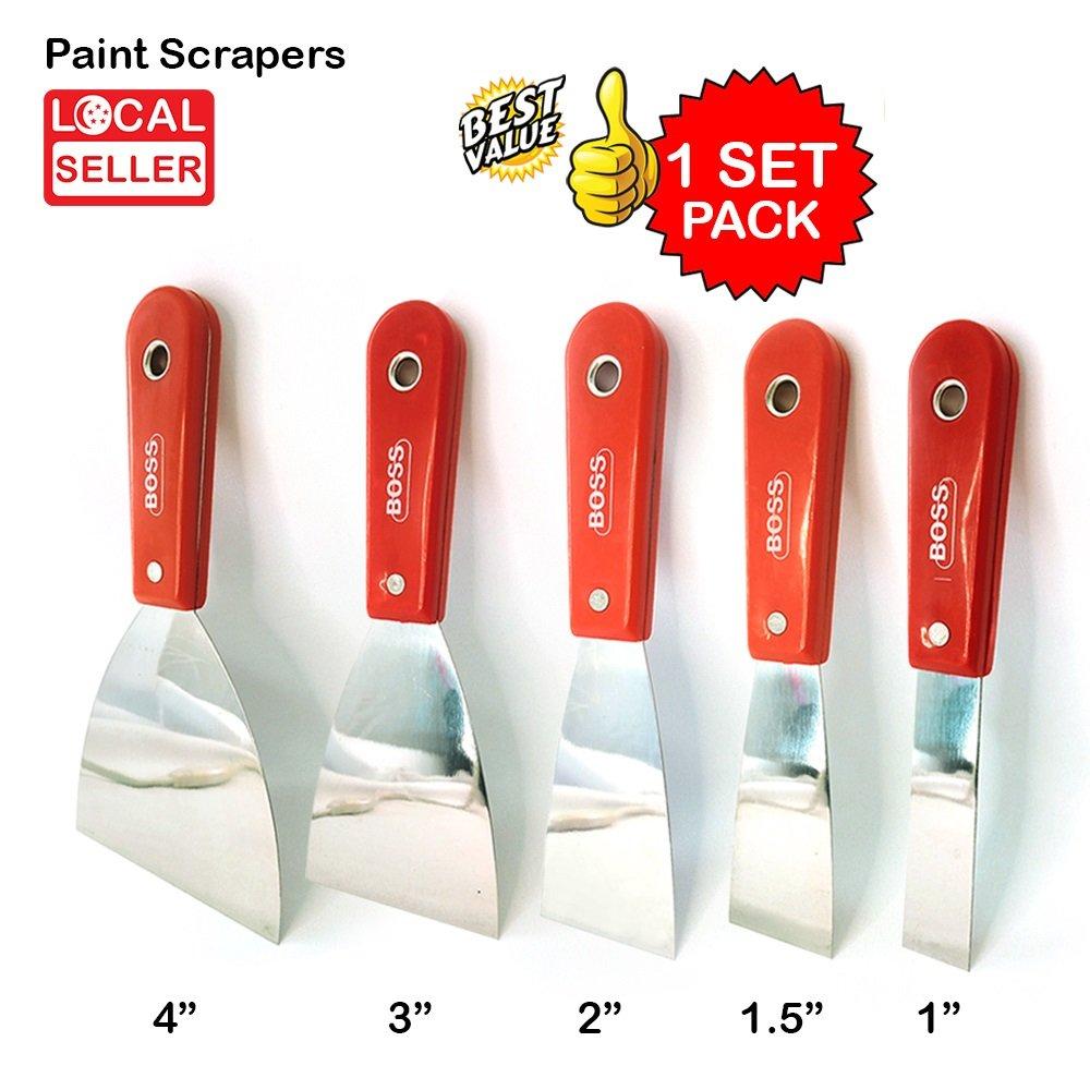 "Paint Scraper | 4"", 3"", 2"", 1.5"", 1"" | 1 SET PACK"