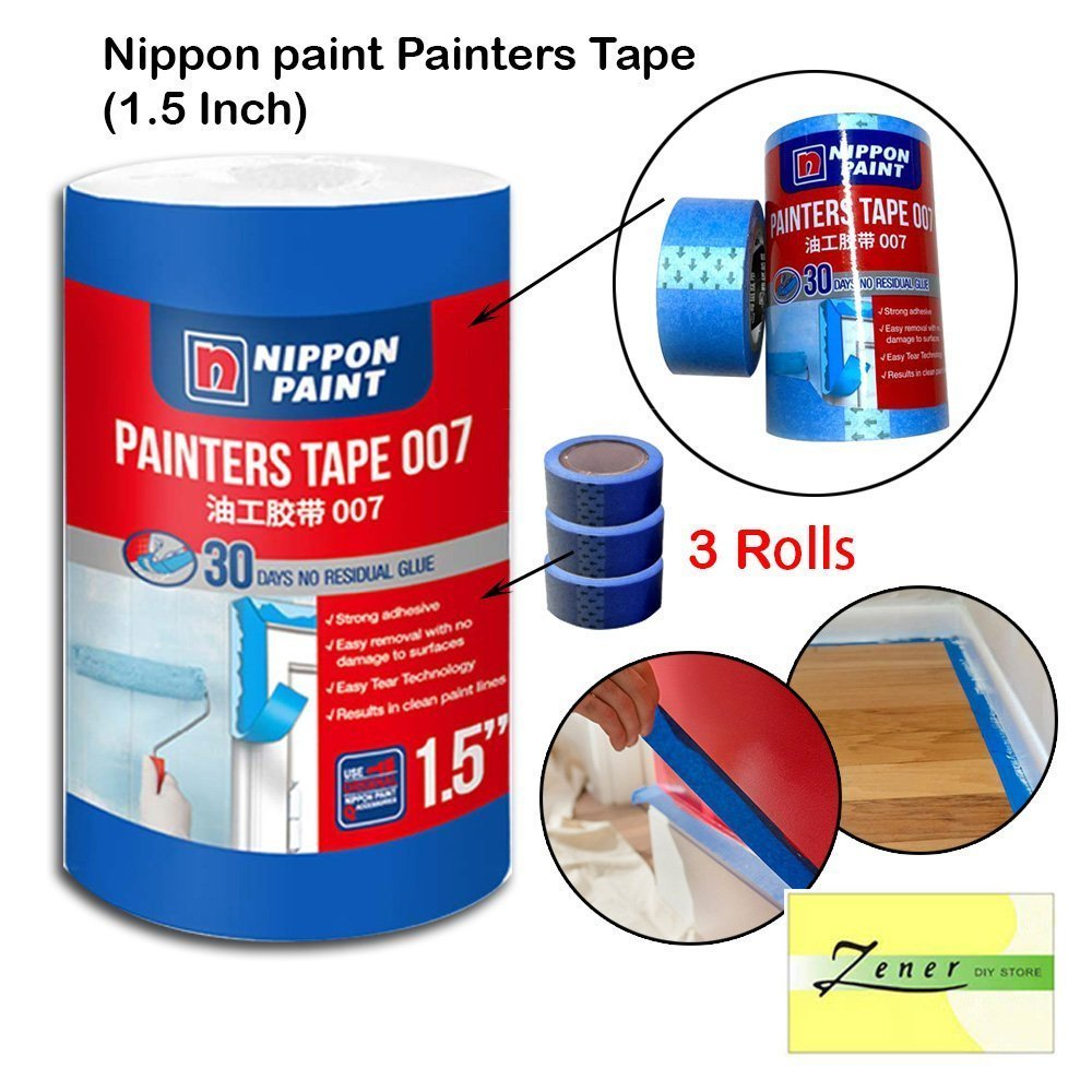 Nippon paint Painters Tape 1.5 inch - 1 tube ( 3 rolls)