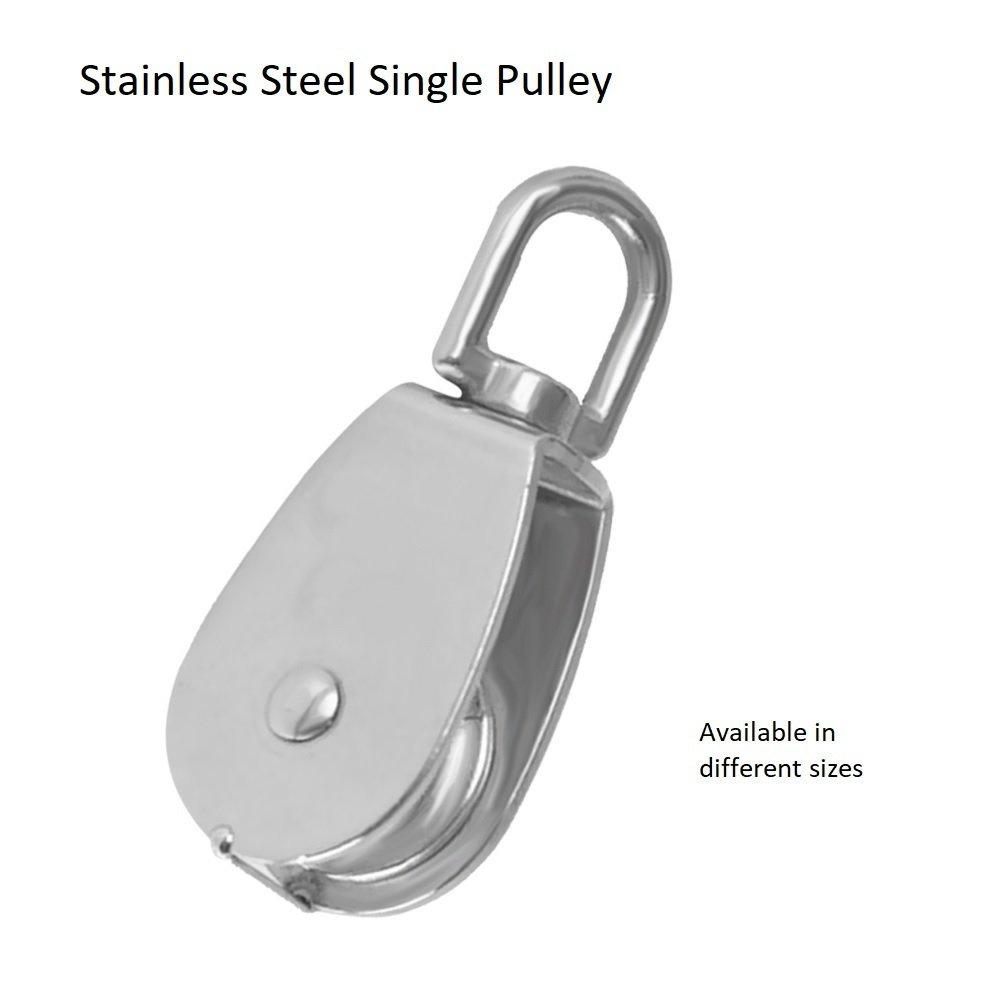 Single Wheel Swivel pulley 32mm Stainless Steel