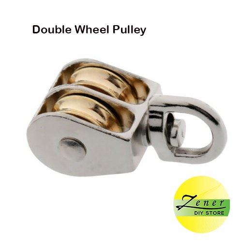 Double Wheel Swivel Pulley 25 mm